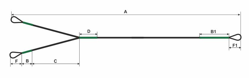 Схема замеров для раздвоенного